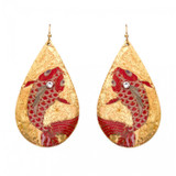 Goldfish Teardrop Earrings - Museum Jewelry - Museum Company Photo