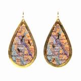 Juneau Map Teardrop Earrings - Museum Jewelry - Museum Company Photo