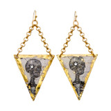 Catacombs Skeleton Earrings Gold - Museum Jewelry - Museum Company Photo
