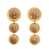 Sand Dollar Triple Drop Earrings - Museum Jewelry - Museum Company Photo