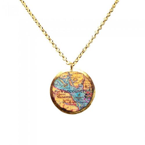 Vancouver Map Pendant - Museum Jewelry - Museum Company Photo