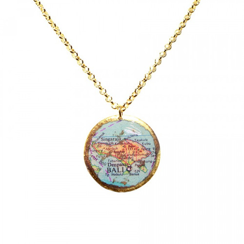 Bali Map Pendant - Museum Jewelry - Museum Company Photo