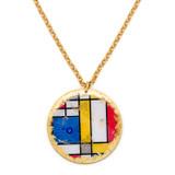 """Mondrian 2"""" Disc Pendant - Museum Jewelry - Museum Company Photo"""