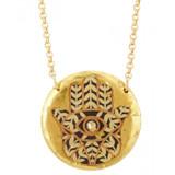 Hamsa Pendant - Gold - 17 inches - Museum Jewelry - Museum Company Photo