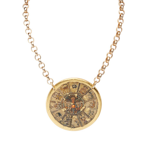 Bet Aleph Zodiac Pendant - Museum Jewelry - Museum Company Photo