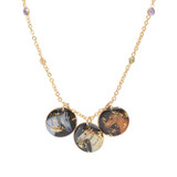 Raj Horses Necklace w/ Semi-Precious Chain - Museum Jewelry - Museum Company Photo