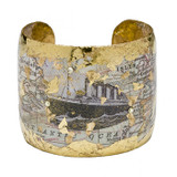 Titanic Map Cuff - Museum Jewelry - Museum Company Photo