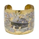 Titanic Map Cuff - Museum Jewelry - Museum Company Photo
