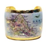 Honolulu Map Cuff - Museum Jewelry - Museum Company Photo