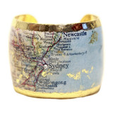 Sydney Map Cuff - Museum Jewelry - Museum Company Photo