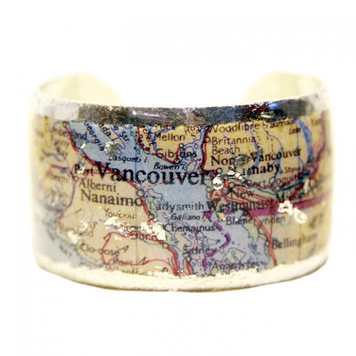 Vancouver Map Cuff - Museum Jewelry - Museum Company Photo
