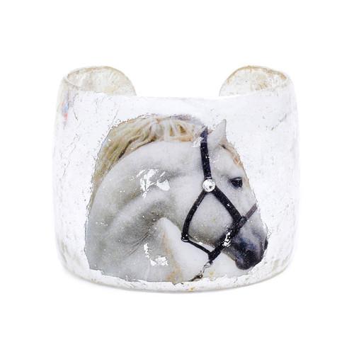White Horse Cuff - Silver - Museum Jewelry - Museum Company Photo