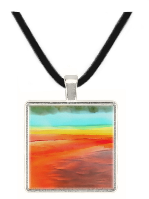 Geological Abstract Pendant - Colors Grand Prismatic Spring, Yellowstone - Museum Store Company Photo