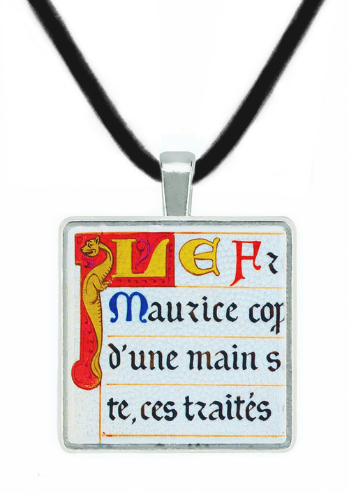 Illuminated Manuscript Pendant of the Monk, France 1906 - Museum Store Company Photo