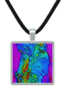 Crystalline Structure BaCl2 Microscopic Pendant - STEM, Imaging - Museum Store Company Photo