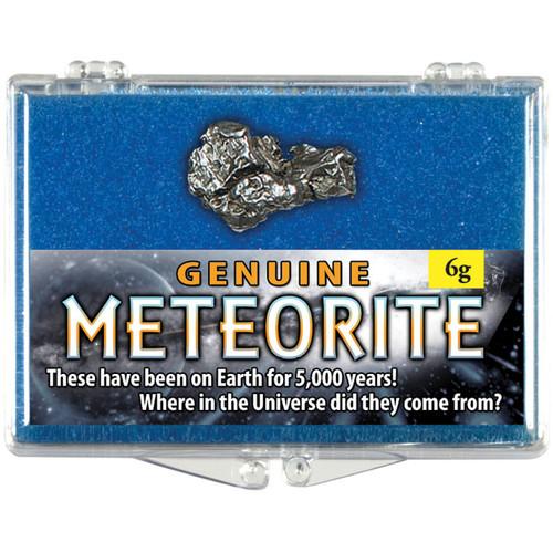 Meteorite 6 gram Box - Campo Del Cielo 2,200 BC, Chaco, Argentina - Actual Authentic Meteorite - Photo Museum Store Company
