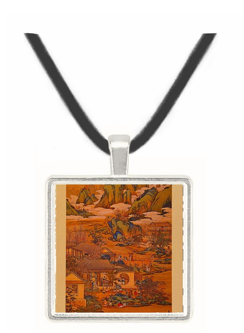 9th Month - Tang Tai and Ting Kuan peng -  Museum Exhibit Pendant - Museum Company Photo