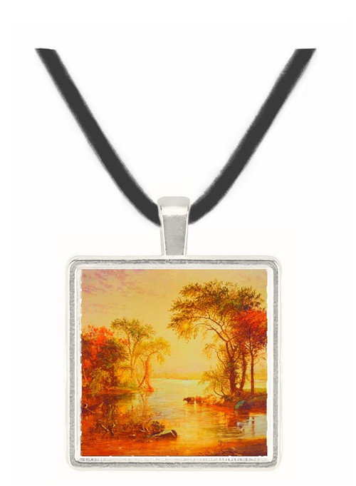 A Bend in the River - Jasper F. Cropsey -  Museum Exhibit Pendant - Museum Company Photo