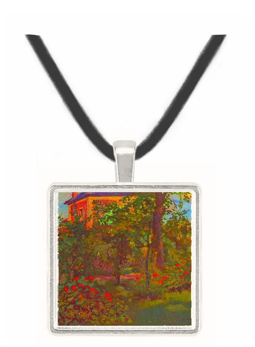 A corner of the Garden of Bellevue by Manet -  Museum Exhibit Pendant - Museum Company Photo