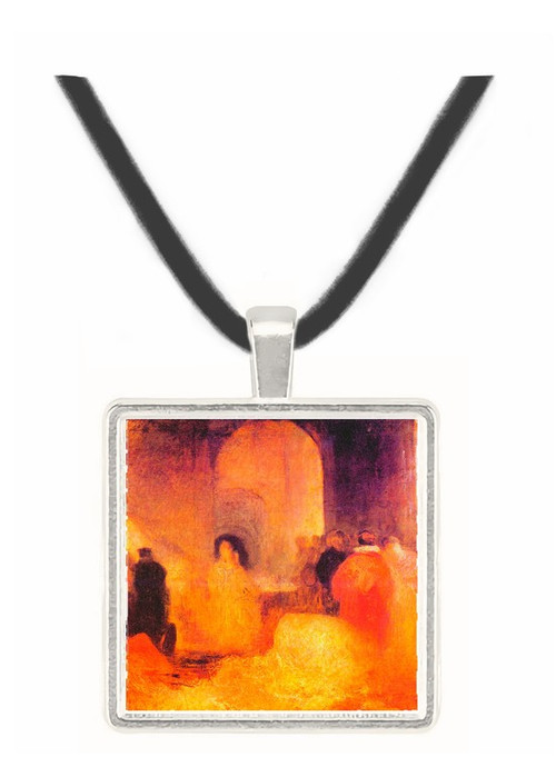 A dinner in a large room with people in costumes by Joseph Mallord Turner -  Museum Exhibit Pendant - Museum Company Photo
