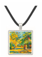 A Garden in Montmartre by Renoir -  Museum Exhibit Pendant - Museum Company Photo
