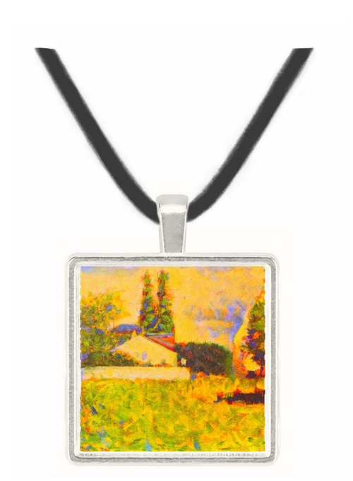 A house between trees by Seurat -  Museum Exhibit Pendant - Museum Company Photo