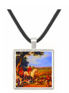 A Hunt Near Fontainebleu - Carle Vernet -  Museum Exhibit Pendant - Museum Company Photo