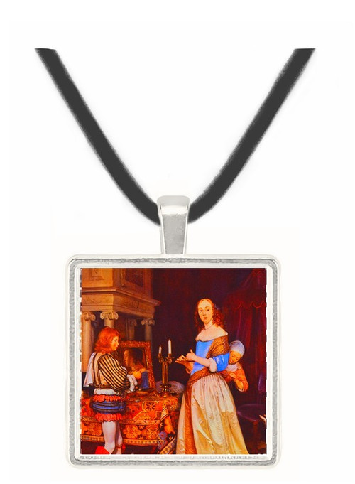 A Lady at her Toilet - Gerard Terborch -  Museum Exhibit Pendant - Museum Company Photo