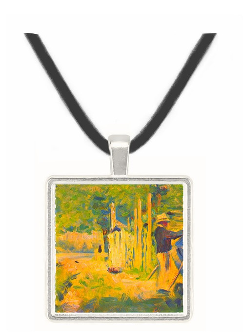 A man removes his boat by Seurat -  Museum Exhibit Pendant - Museum Company Photo