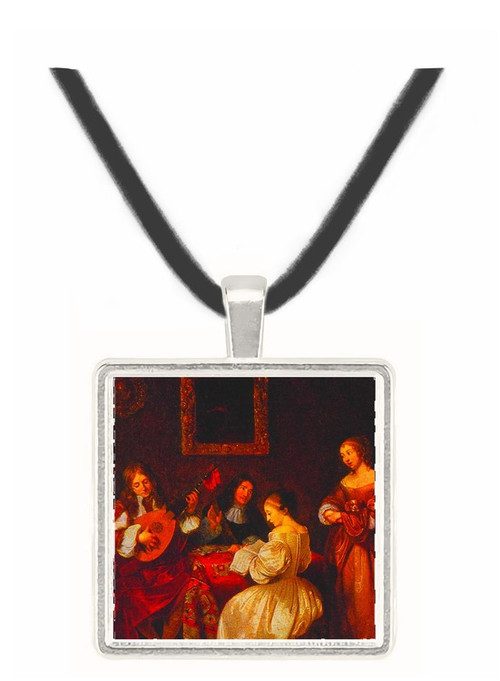 A Musical Evening - Caspar Netscher -  Museum Exhibit Pendant - Museum Company Photo