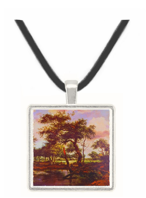 A Pond in the Forest (1668) - Meindert Hobbema -  Museum Exhibit Pendant - Museum Company Photo