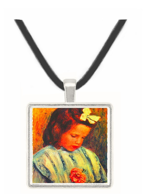 A reading girl by Renoir -  Museum Exhibit Pendant - Museum Company Photo