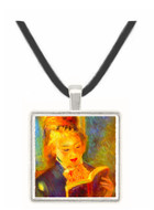 A reading girl1 by Renoir -  Museum Exhibit Pendant - Museum Company Photo