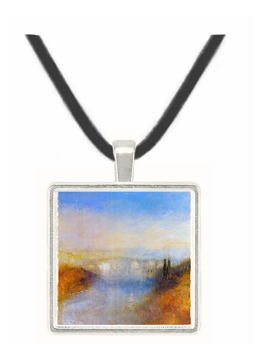 A river from a hill by Joseph Mallord Turner -  Museum Exhibit Pendant - Museum Company Photo