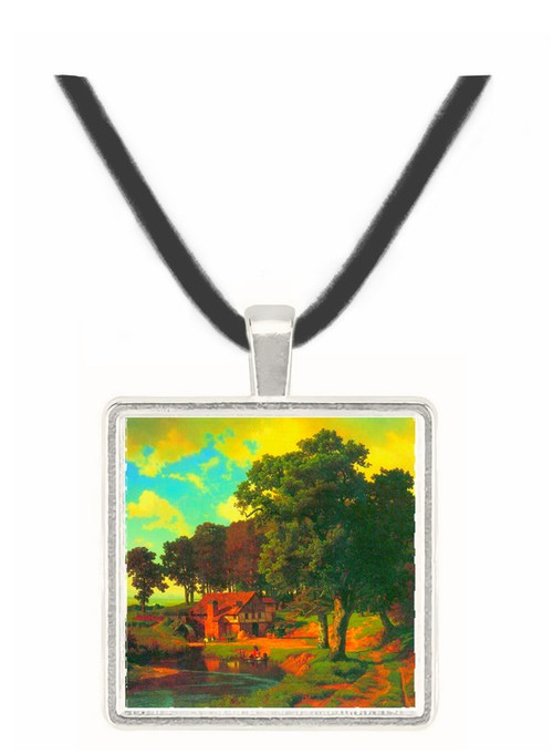 A rustic mill by Bierstadt -  Museum Exhibit Pendant - Museum Company Photo