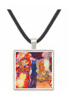 adorn the bride with veil and wreath by Klimt -  Museum Exhibit Pendant - Museum Company Photo