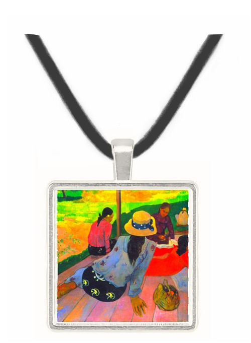 Afternoon Quiet Hour by Gauguin -  Museum Exhibit Pendant - Museum Company Photo