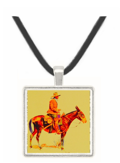 An Army Packer - Frederic Remington -  Museum Exhibit Pendant - Museum Company Photo