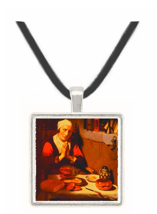 An Old Woman Praying - Nicolaes Maes -  Museum Exhibit Pendant - Museum Company Photo