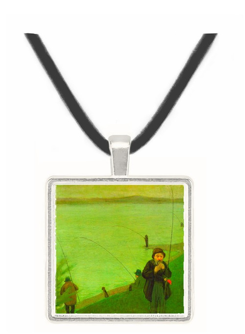 Anglers on the Rhine by Macke -  Museum Exhibit Pendant - Museum Company Photo