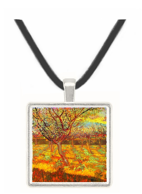 Apricot Trees in Blossom2 -  Museum Exhibit Pendant - Museum Company Photo