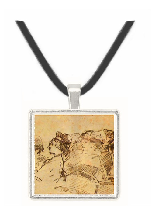 At the Theater by Manet -  Museum Exhibit Pendant - Museum Company Photo