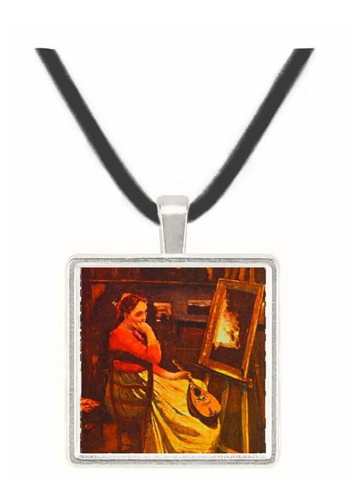 Atelier - Jean Baptiste Camille Corot -  Museum Exhibit Pendant - Museum Company Photo