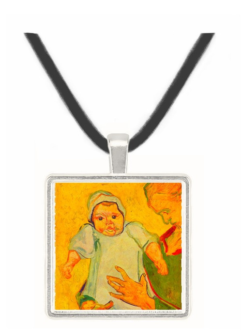 Augustine Roulin with her infant by Van Gogh -  Museum Exhibit Pendant - Museum Company Photo