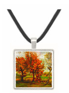 Autumn Landscape with Four Trees -  Museum Exhibit Pendant - Museum Company Photo