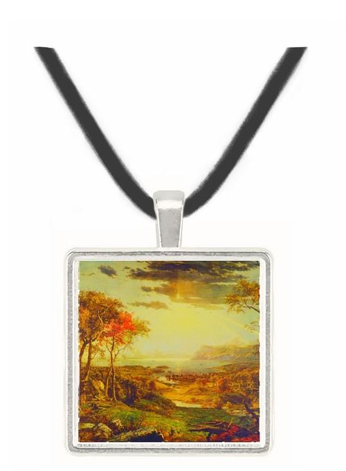 Autumn on the Hudson - Jasper F. Cropsey -  Museum Exhibit Pendant - Museum Company Photo