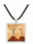 Autumn sun and trees by Schiele -  Museum Exhibit Pendant - Museum Company Photo