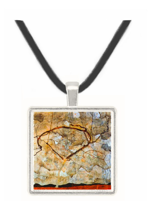 Autumn tree in the wind Schiele -  Museum Exhibit Pendant - Museum Company Photo