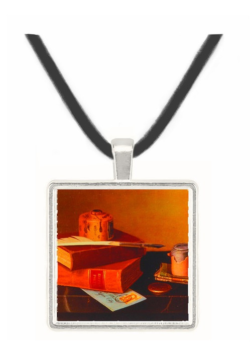 Bankers Table - William Michael Harnett -  Museum Exhibit Pendant - Museum Company Photo