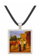 Bargaining for a Horse - William Sidney Mount -  Museum Exhibit Pendant - Museum Company Photo